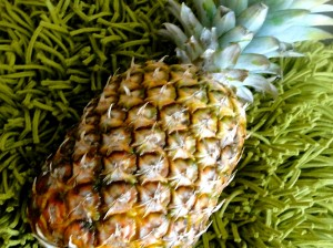 Pineapples make for a healthy and juicy member of an edible fruit basket